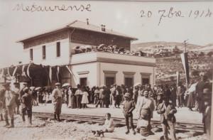 La stazione di Urbino in una foto d'epoca
