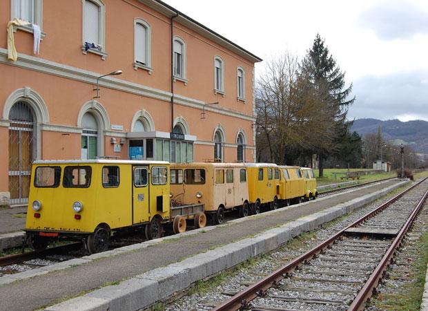 L'ex stazione di Fermignano com'è oggi