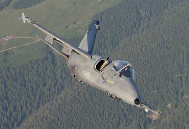 Un AMX Ghibli in dotazione all'aeronautica militare