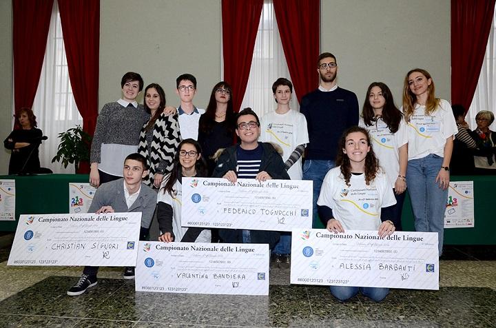 I vincitori del Campionato nazionale delle lingue