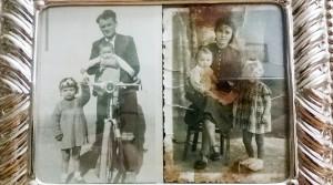 Foto d'epoca con tutta la famiglia al completo