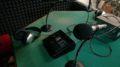 Un particolare dello studio radiofonico