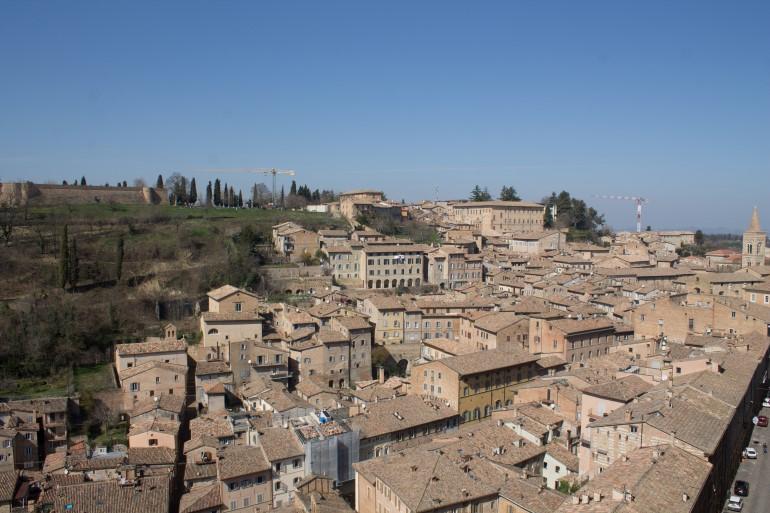 Urbino dall'alto, vista dai torricini