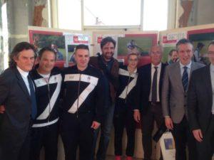 Gli atleti azzurri alla mostra di Palazzo Battiferri sui sessant'anni del tiro a volo