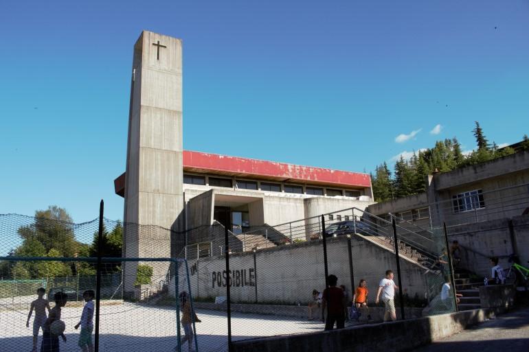 La chiesa di san Pier Damiani dove si è tenuto il rosario