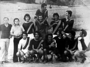 Foto di squadra di una delle formazioni che, all'inizio degli anni '70, partecipavano al torneo cittadino