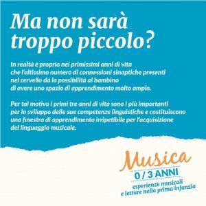 Il post pubblicato su Facebook dalla pagina dell'Istituto per la musica Harmonia
