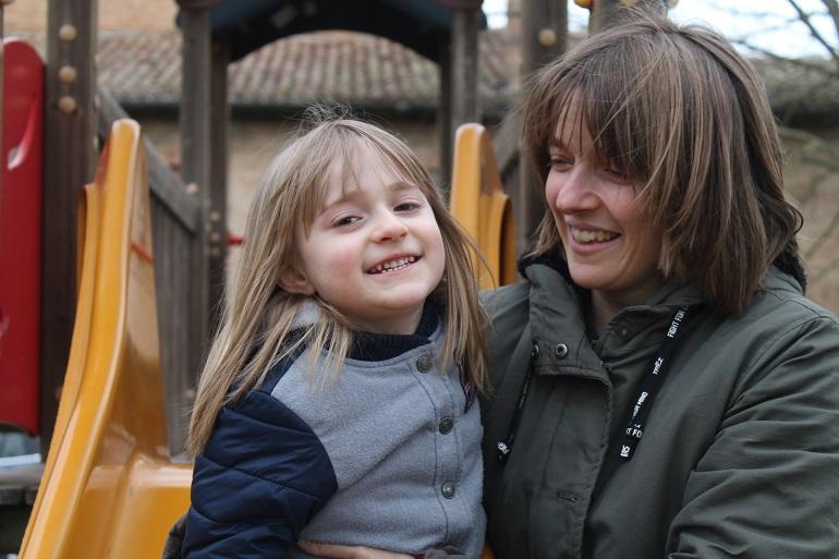 Lucilla Fabi con sua figlia Viola